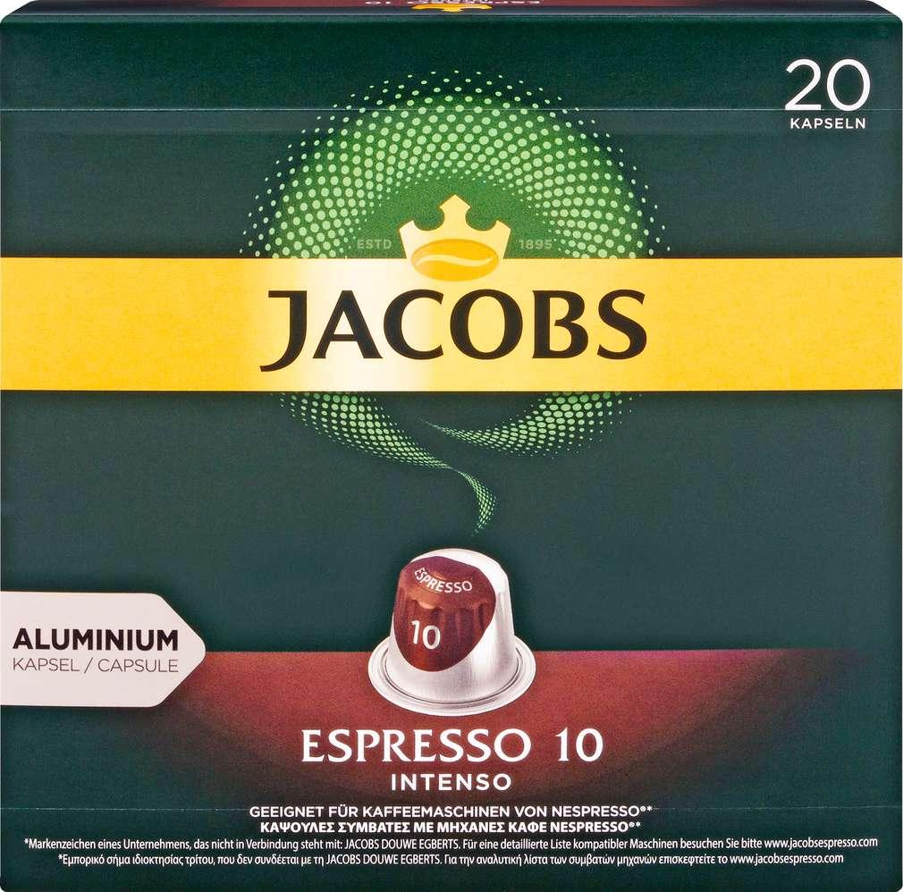Abbildung des Sortimentsartikels Jacobs Espresso 10 Intenso 104g, 20 Kapseln