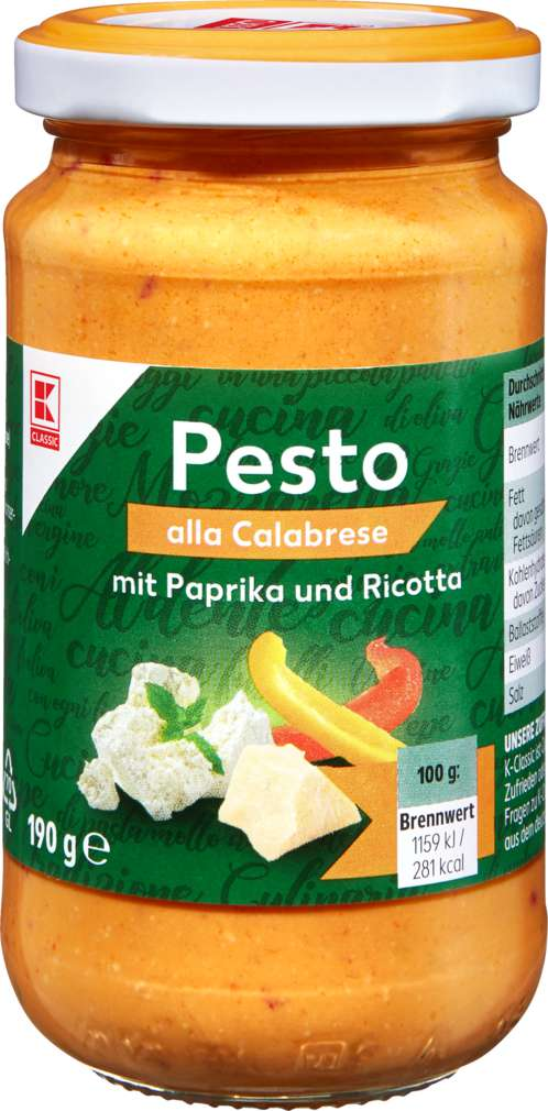 Abbildung des Sortimentsartikels K-Classic Pesto Calabrese 190g