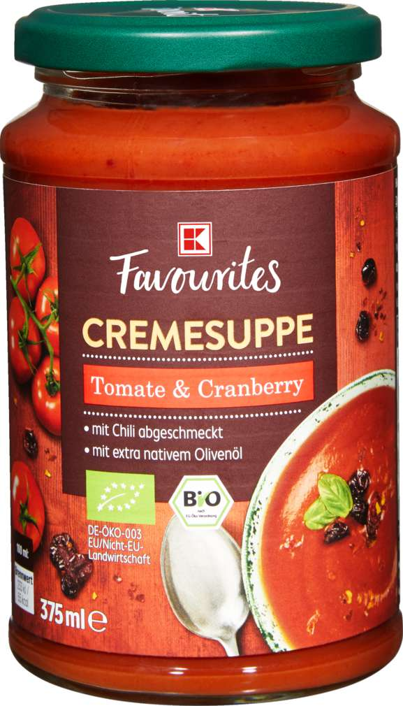 Abbildung des Sortimentsartikels K-Favourites Tomate Cranberry mit Chili Suppe 375ml
