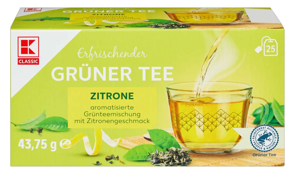 Abbildung des Sortimentsartikels K-Classic Grüner Tee Zitrone 25x1,75g