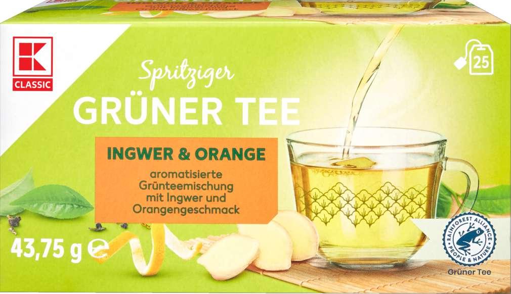 Abbildung des Sortimentsartikels K-Classic Grüner Tee Orange-Ingwer 25x1,75g
