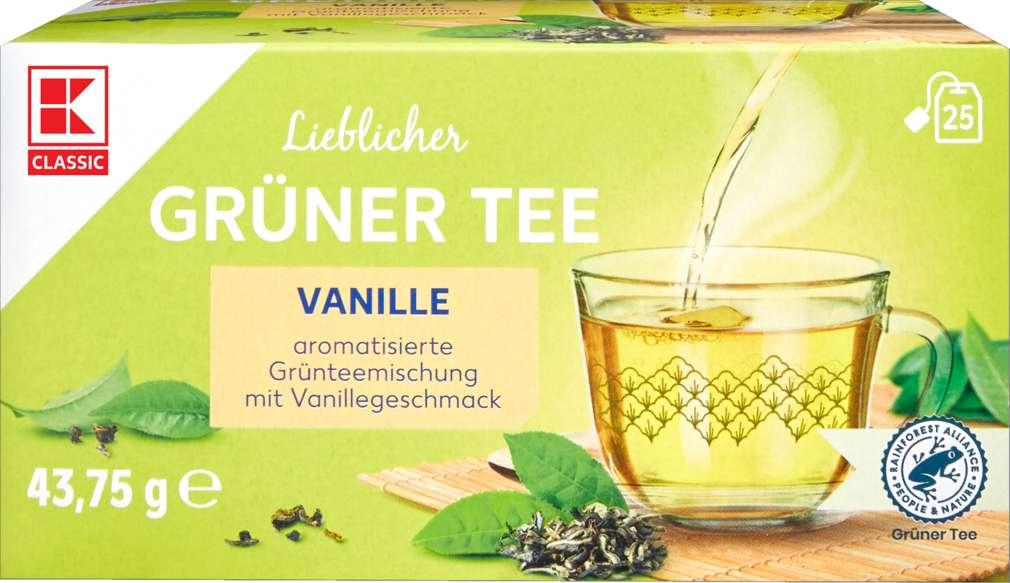 Abbildung des Sortimentsartikels K-Classic Grüner Tee Vanille 25x1,75g