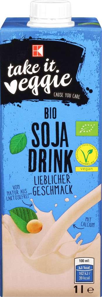 Abbildung des Sortimentsartikels K-Take it Veggie Bio Soja Drink 1l
