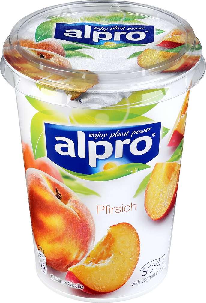 Abbildung des Sortimentsartikels Alpro Soja-Joghurtalternative Pfirsich 500g
