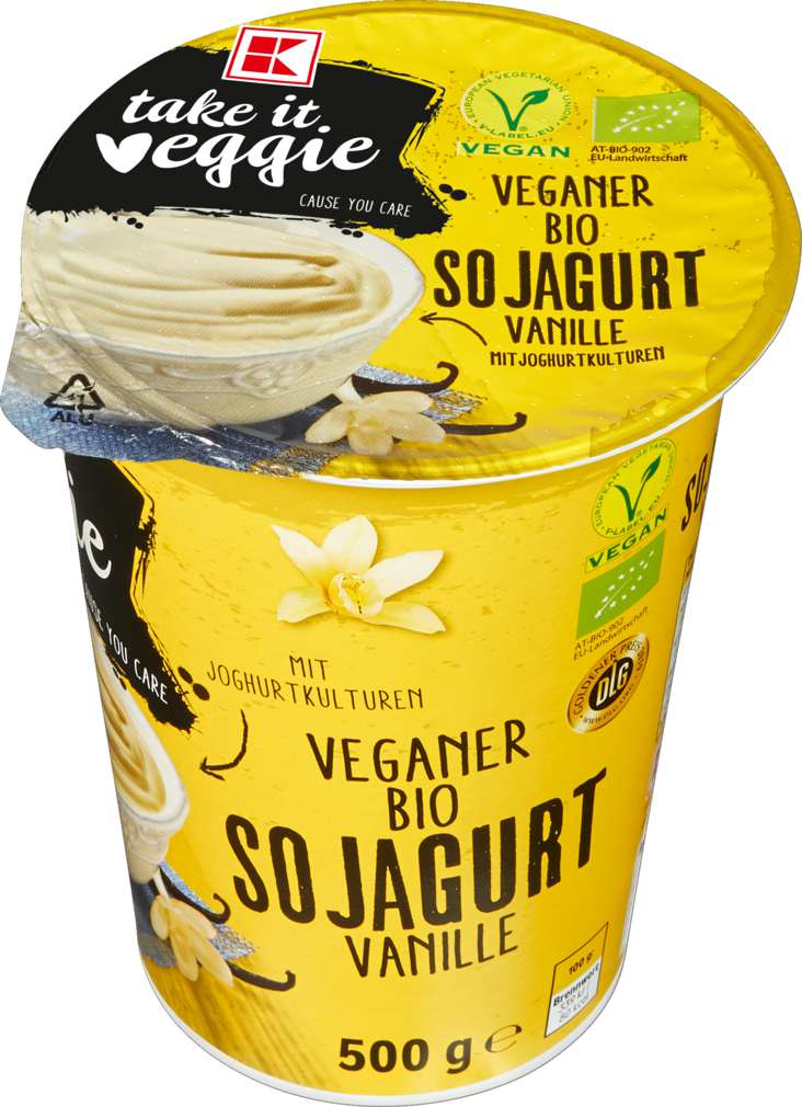 Abbildung des Sortimentsartikels K-Take it Veggie Veganer Bio Sojagurt Vanille 500g