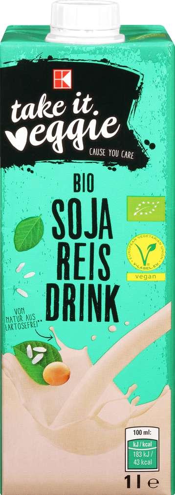 Abbildung des Sortimentsartikels K-Take it Veggie Bio Soja Reis Drink 1l