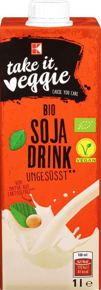 Abbildung des Sortimentsartikels K-Take it Veggie Bio Soja Drink ungesüßt 1l