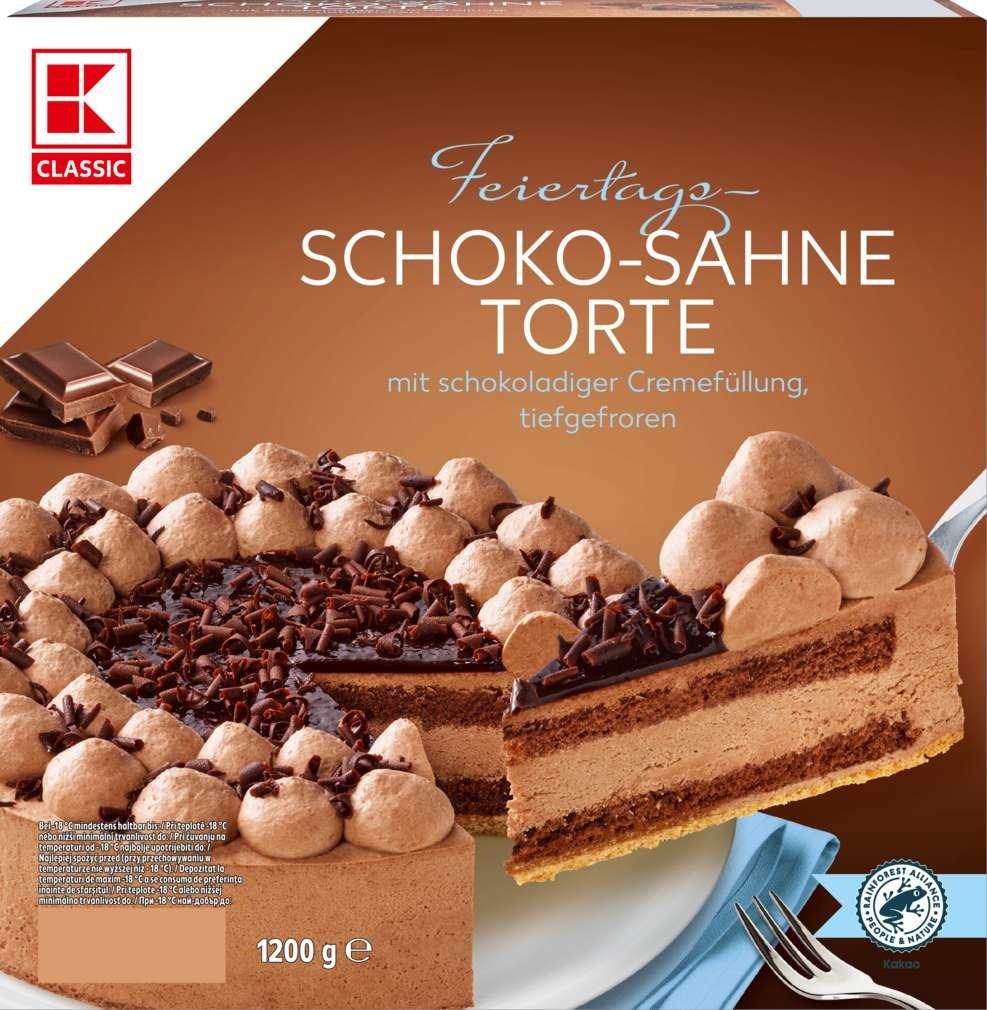 Abbildung des Sortimentsartikels K-Classic Schoko-Sahne-Torte 1200g