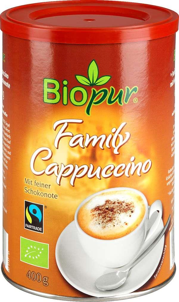 Abbildung des Sortimentsartikels Biopur Family Cappuccino 400g
