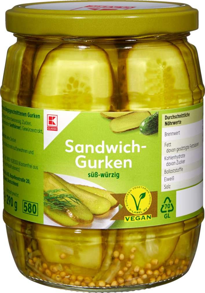 Abbildung des Sortimentsartikels K-Classic Sandwich-Gurken 530g