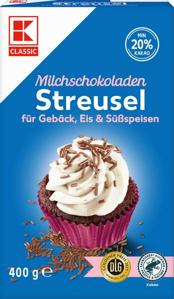 Abbildung des Sortimentsartikels K-Classic Milchschokoladen-Streusel 400g