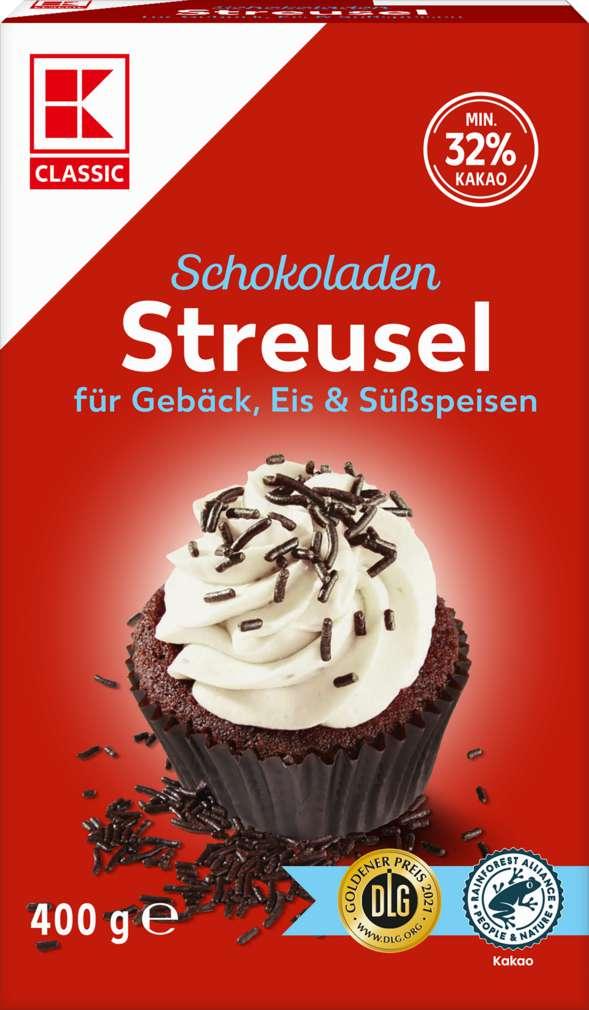 Abbildung des Sortimentsartikels K-Classic Schokoladen-Streusel 32% Kakao 400g