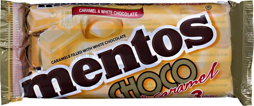 Abbildung des Sortimentsartikels Mentos Choco & caramel weiß