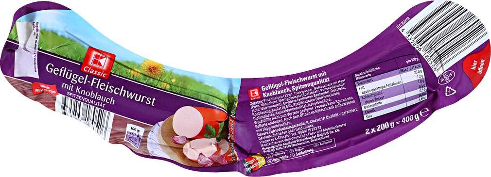 Abbildung des Sortimentsartikels K-Classic Geflügel-Fleischwurst 2x200g