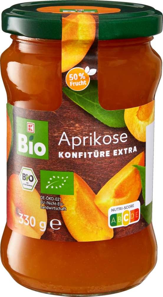 Abbildung des Sortimentsartikels K-Bio Aprikosen Konfitüre extra 330g