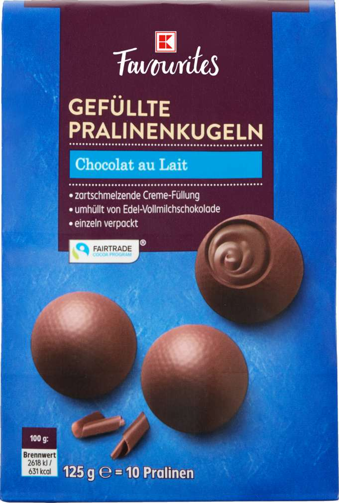 Abbildung des Sortimentsartikels K-Favourites Chocolat au Lait gefüllte Pralinen 125g