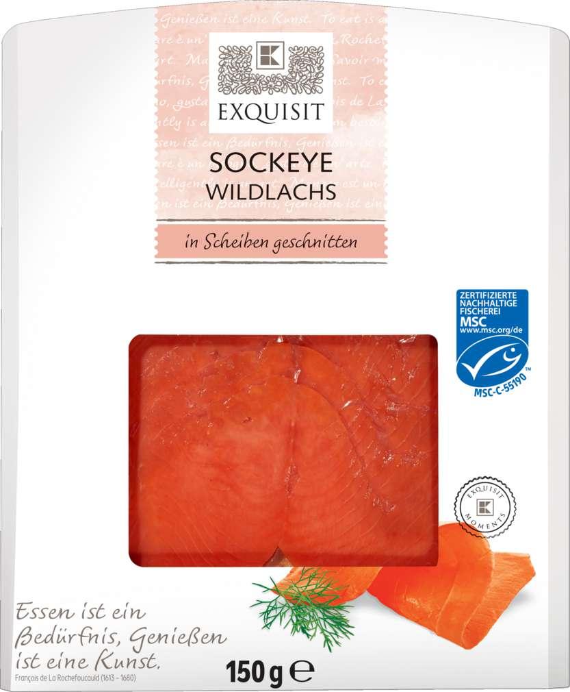 Abbildung des Sortimentsartikels Exquisit Sockeye Wildlachs 150g