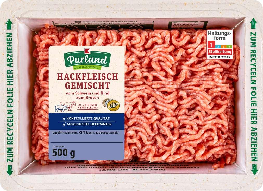 Abbildung des Sortimentsartikels K-Purland Hackfleisch gemischt von Schwein/Rind 500g