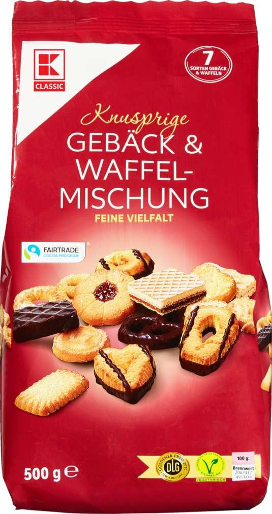 Abbildung des Sortimentsartikels K-Classic Gebäck+Waffel - Mischung 500g