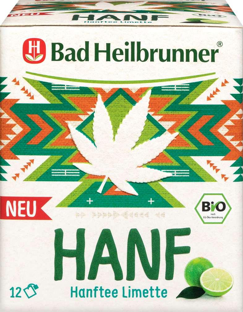 Abbildung des Sortimentsartikels Bad Heilbrunner Hanftee Limette je 12 Beutel