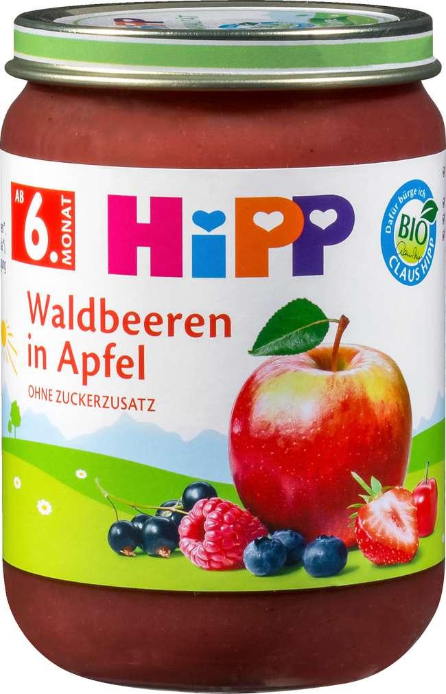 Abbildung des Sortimentsartikels Hipp Waldbeeren in Apfel 190g