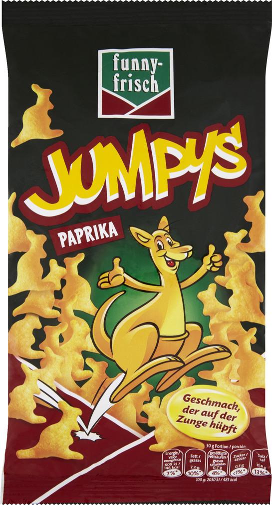 Abbildung des Sortimentsartikels Funny-Frisch Jumpys Paprika 75g