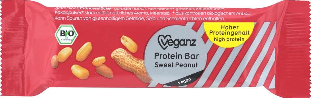 Abbildung des Sortimentsartikels Veganz Bio-Protein-Bar Sweet Peanut 45g