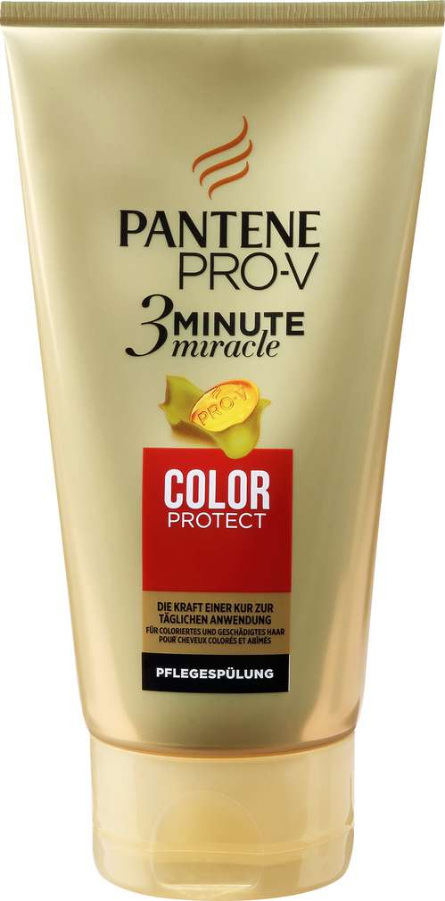 Abbildung des Sortimentsartikels Pantene Pro-V 3 Minute miracle Pflegespülung 3 Minute Miracle Colour Protext 150ml