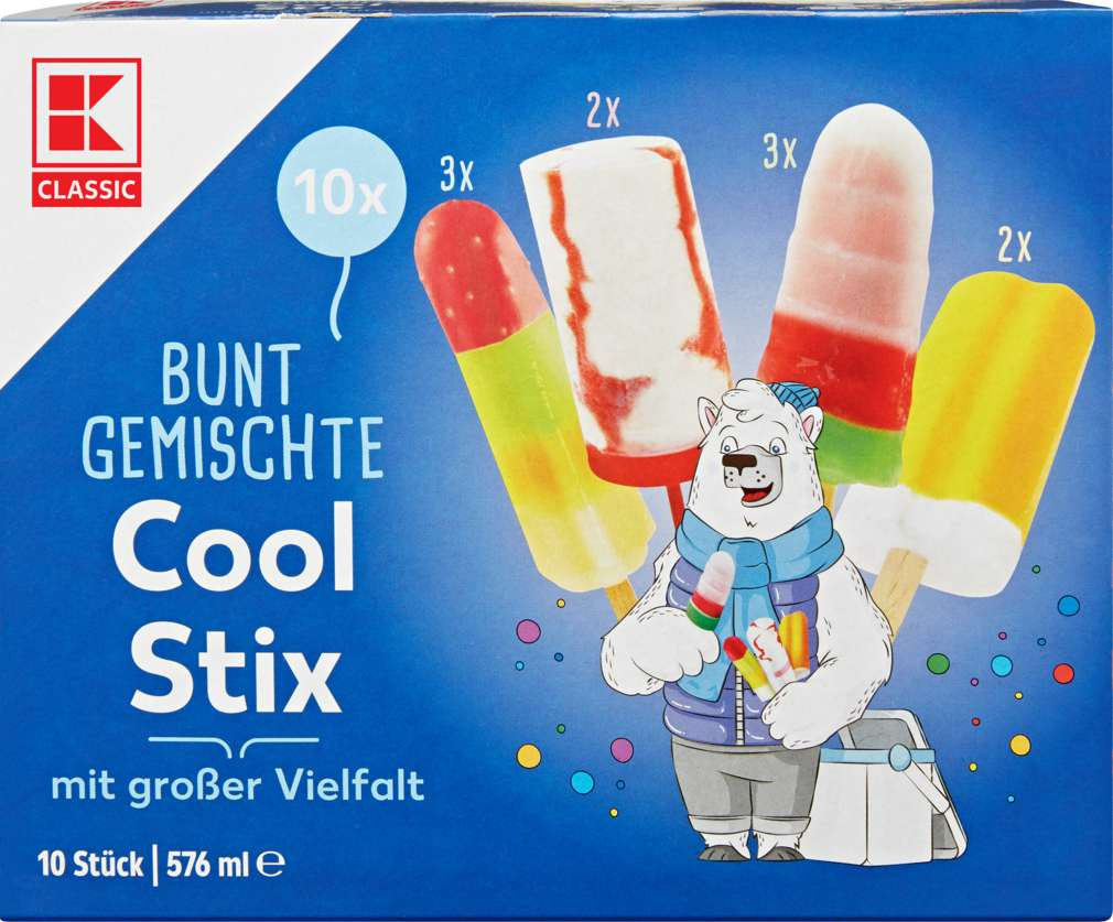 Abbildung des Sortimentsartikels K-Classic Cool Stix Kleineis-Mischung 576ml