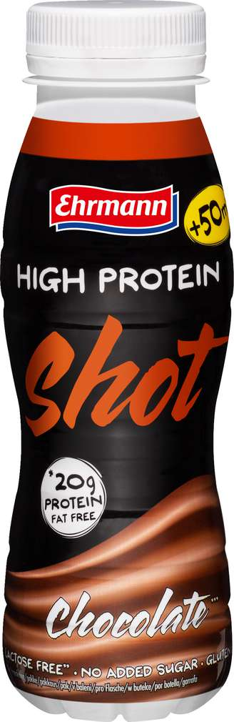 Abbildung des Sortimentsartikels Ehrmann High Protein Shot Schoko 250ml