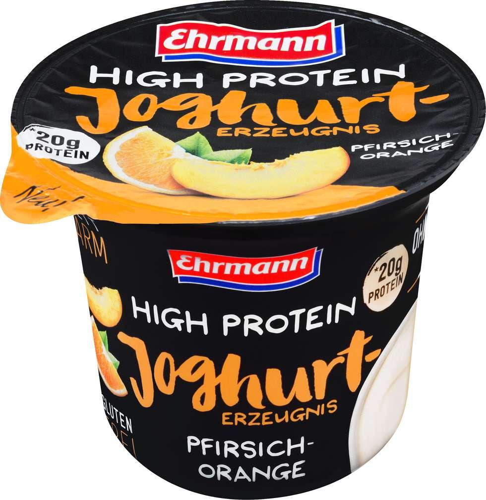 Abbildung des Sortimentsartikels Ehrmann Protein Joghurt Pfirsich Orange 200g