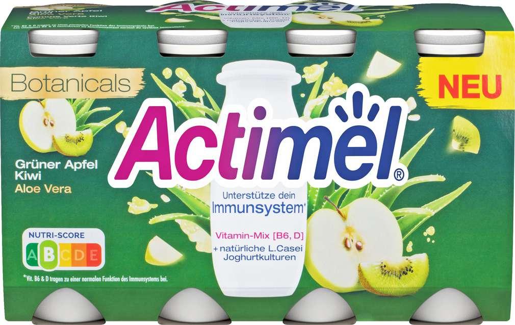 Abbildung des Sortimentsartikels Danone Actimel Drink Aloe Vera Apfel-Kiwi 8x100g