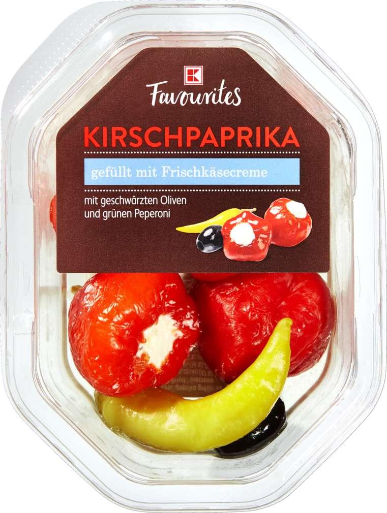 Abbildung des Sortimentsartikels K-Favourites Kirschpaprika gefüllt mit Frischkäse 150g