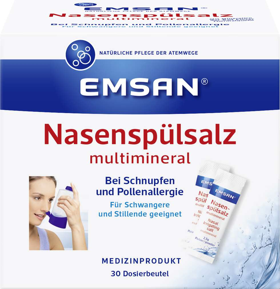 Abbildung des Sortimentsartikels Emsan Nase Spülsalz Beutel 30 Stück