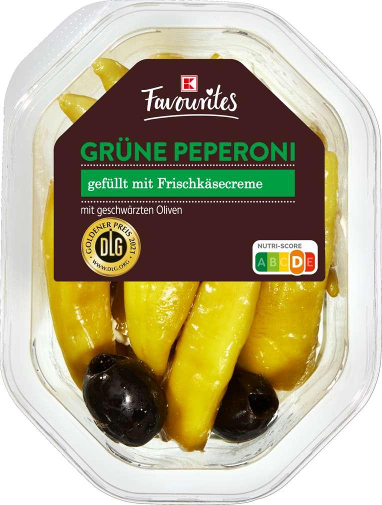 Abbildung des Sortimentsartikels K-Favourites Grüne Pepperoni gefüllt Frischkäse 150g