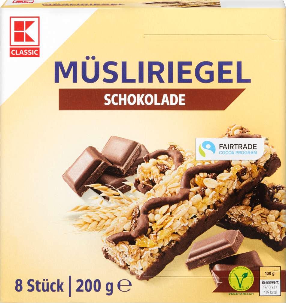 Abbildung des Sortimentsartikels K-Classic Müsliriegel Schoko 200g