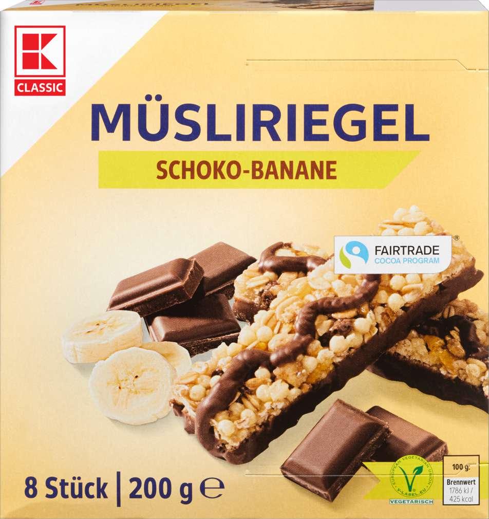 Abbildung des Sortimentsartikels K-Classic Müsliriegel Schoko-Banane 200g
