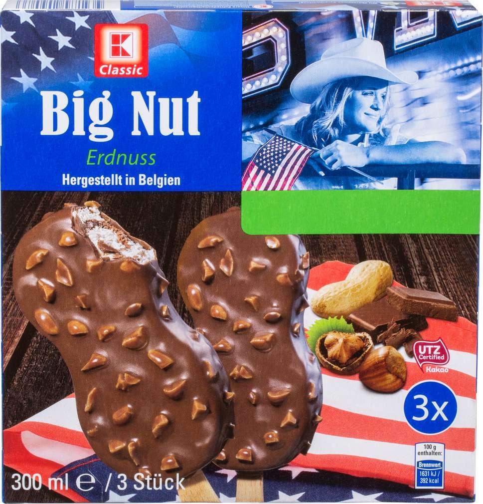 Abbildung des Sortimentsartikels K-Classic Big Nut Eis 300ml, 3 Stück