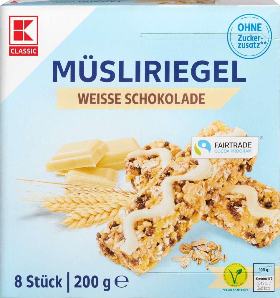 Abbildung des Sortimentsartikels K-Classic Müsliriegel Weiße-Schoko free 200g