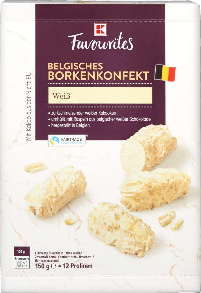 Abbildung des Sortimentsartikels K-Favourites Belgisches Borkenkonfekt Weiß 150g