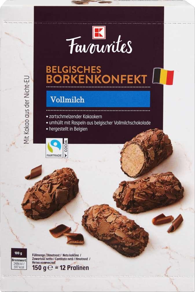 Abbildung des Sortimentsartikels K-Favourites Belgisches Borkenkonfekt Vollmilch 150g