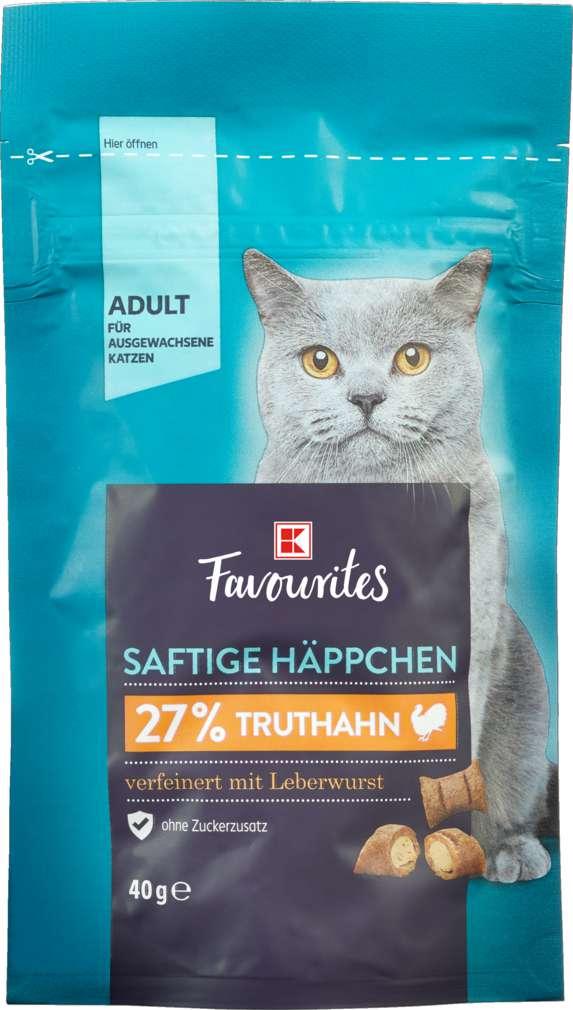 Abbildung des Sortimentsartikels K-Favourites Saftige Häppchen Truthahn/Leberwurst 40g
