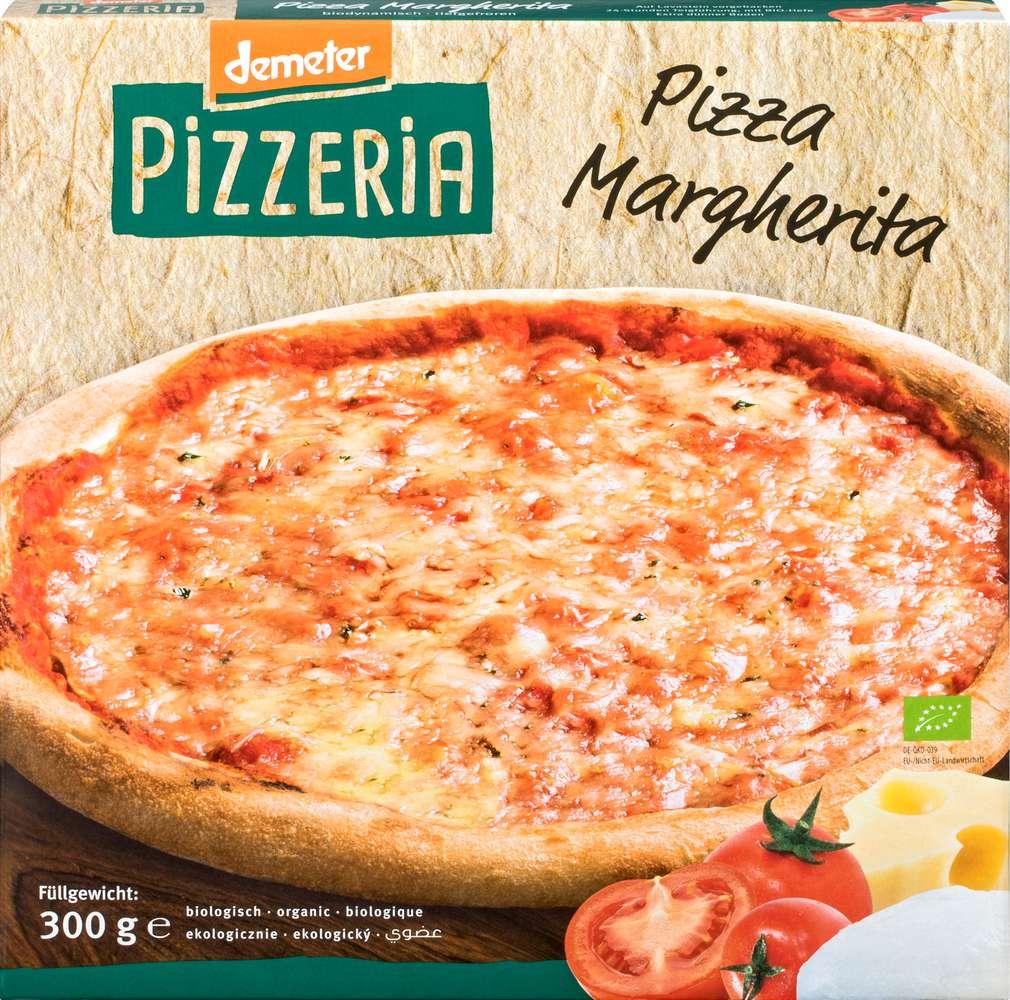 Abbildung des Sortimentsartikels Felderzeugnisse Demeter Pizza Margherita 300g
