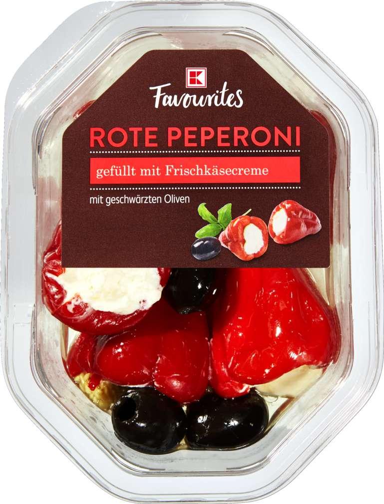 Abbildung des Sortimentsartikels K-Favourites rote Paprika mit Frischkäse gefüllt 150g