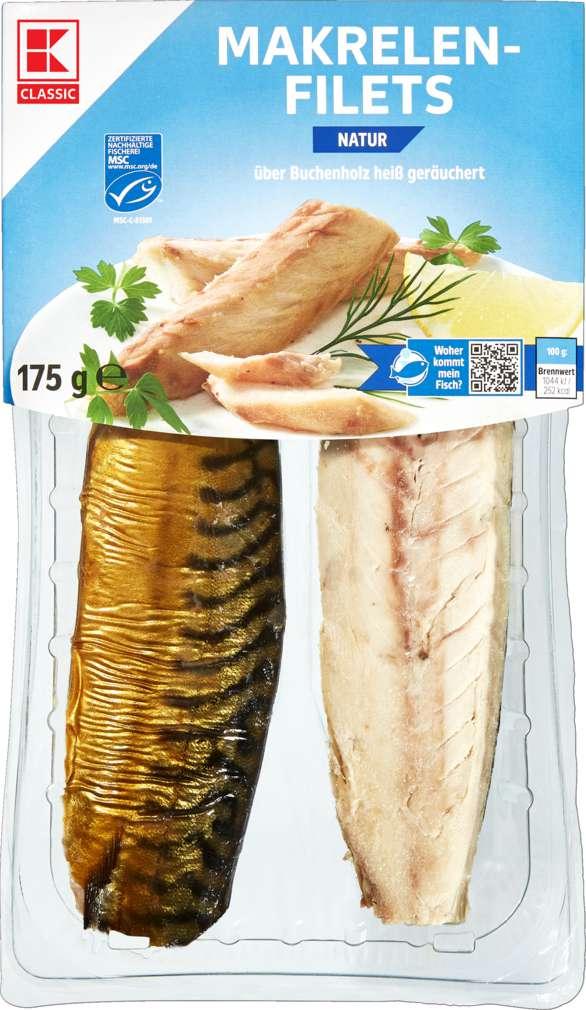 Abbildung des Sortimentsartikels K-Classic Makrelenfilet natur 175g