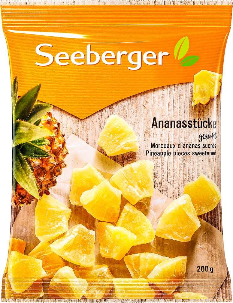 Abbildung des Sortimentsartikels Seeberger Ananasstücke gesüsst 200g