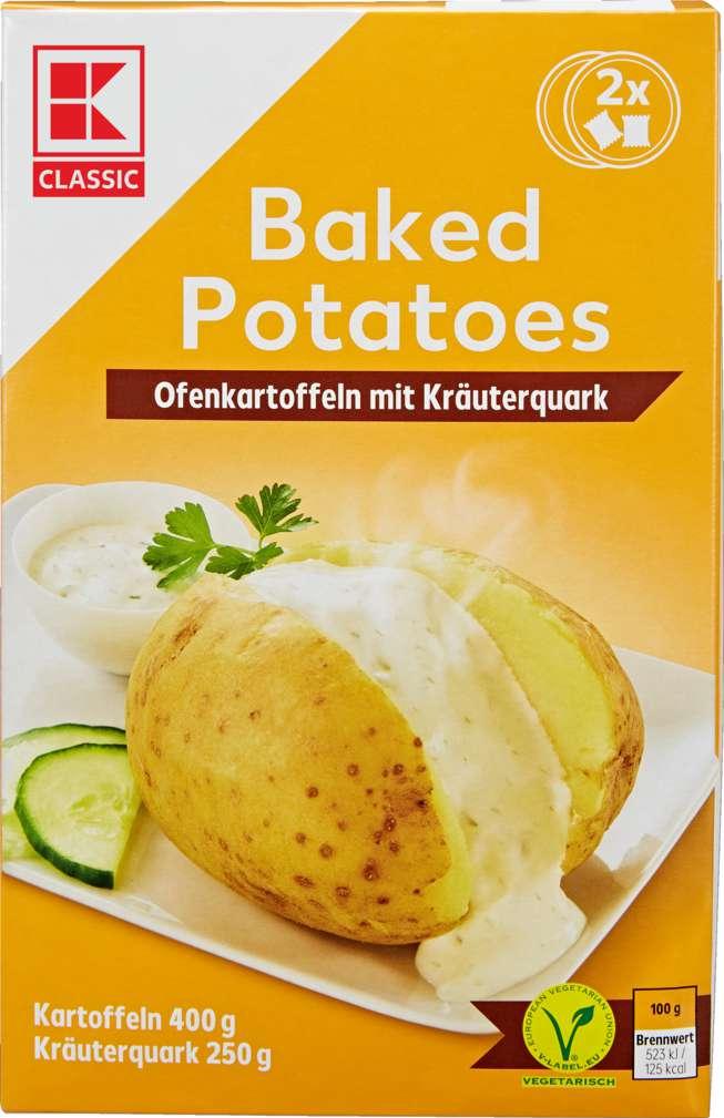 Abbildung des Sortimentsartikels K-Classic Ofenkartoffeln mit Kräuterquark 650g