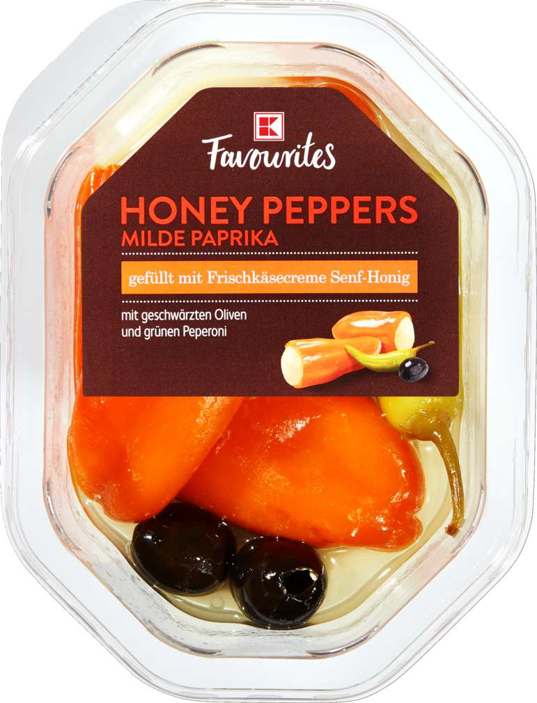 Abbildung des Sortimentsartikels K-Favourites Frischkäse Honey Pepppers Senf-Honig 150g