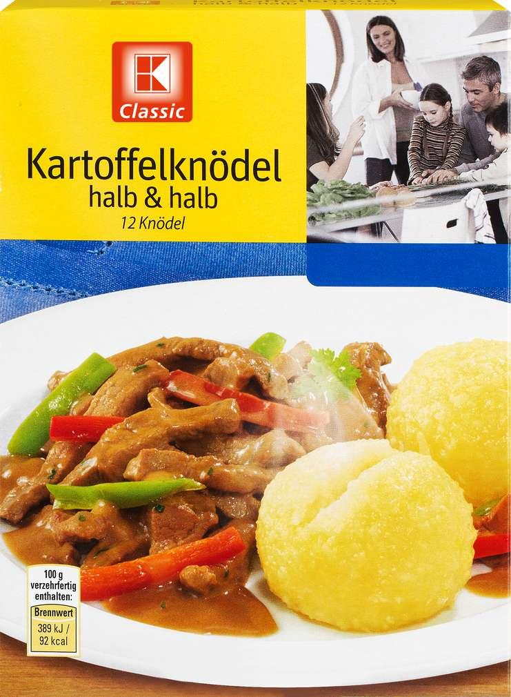 Abbildung des Sortimentsartikels K-Classic Kartoffelknödel halb & halb 309g, 12 Stück