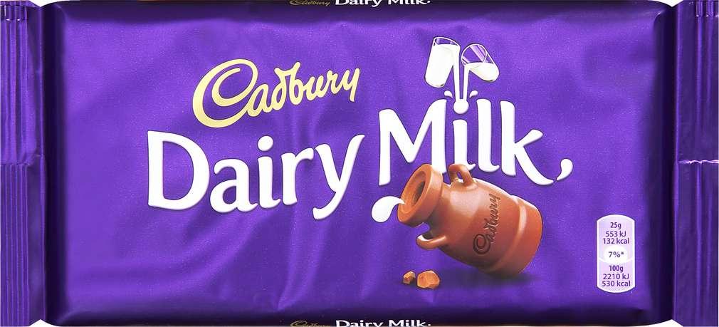 Abbildung des Sortimentsartikels Cadbury Dairy Milk Vollmilchschokolade 200g